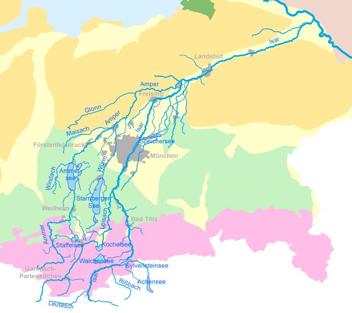 Oberes Grundwasser-Stockwerk Isar